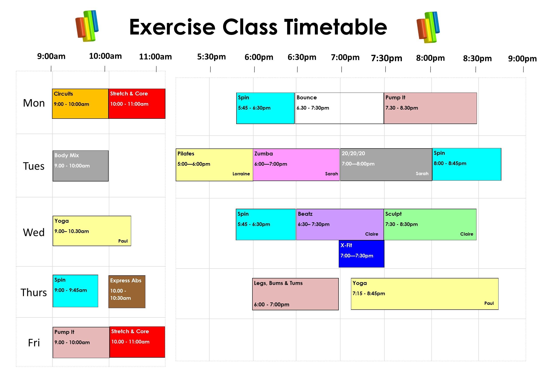 Timetable Jan 2020